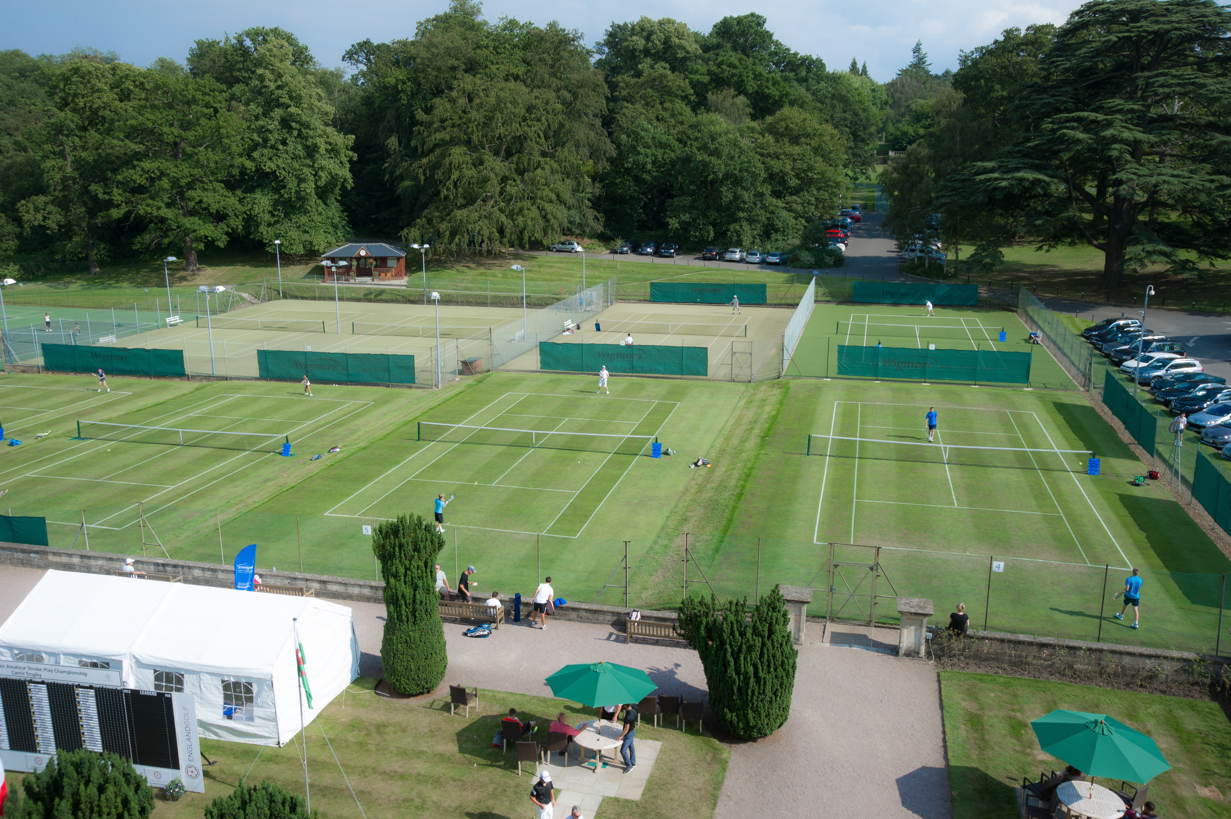 The Tennis Course At Moor Park