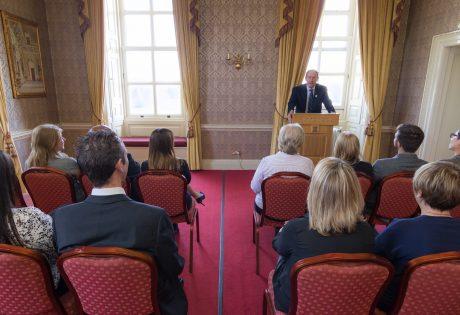 Grosvenor function room with speaker