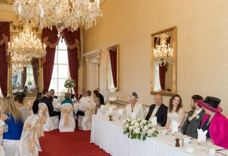 Main Dining Room set up for Wedding