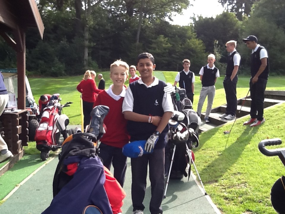 Juniors in golf kit