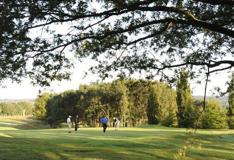 men on golf green