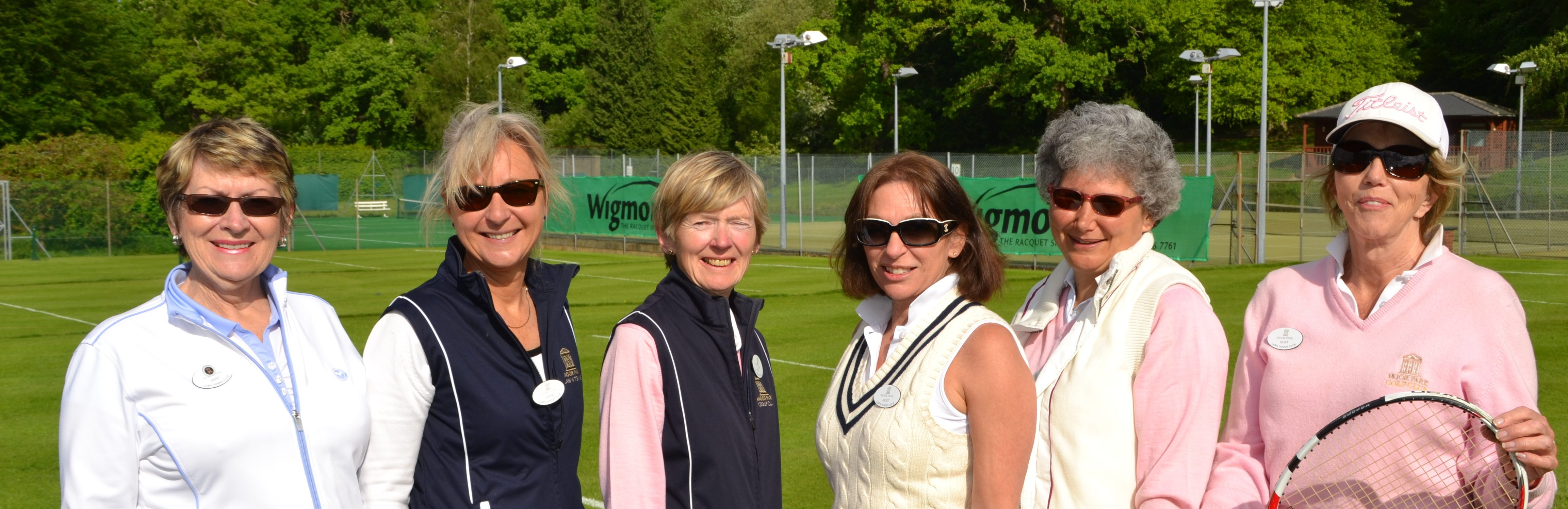 Old ladies photo after tennis match