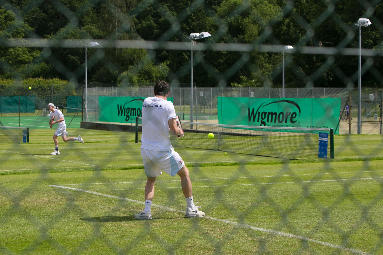 Tennis Mens Doubles action shot
