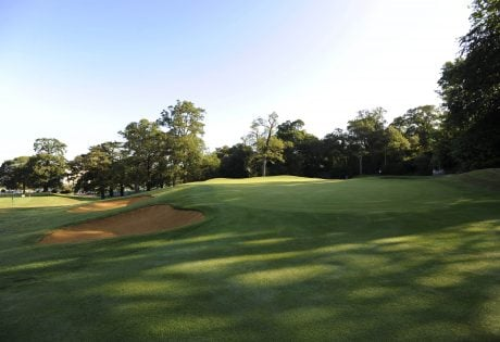 18 Hole - Shot of bunker and Green