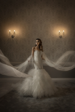 bride in manor suite