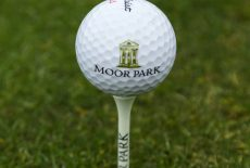 Moor park golf ball with logo