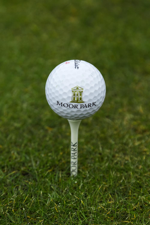 Moor park golf ball with logo