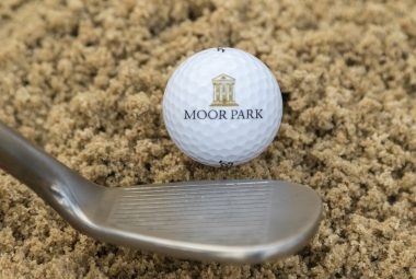 Moor park golf ball in bunker