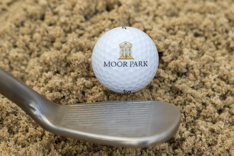 Moor park golf ball in bunker