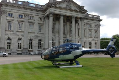 helicopter landing at Moor Park