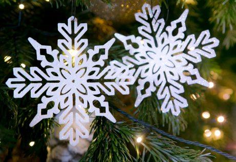 Snowflake christmas decoration Close up