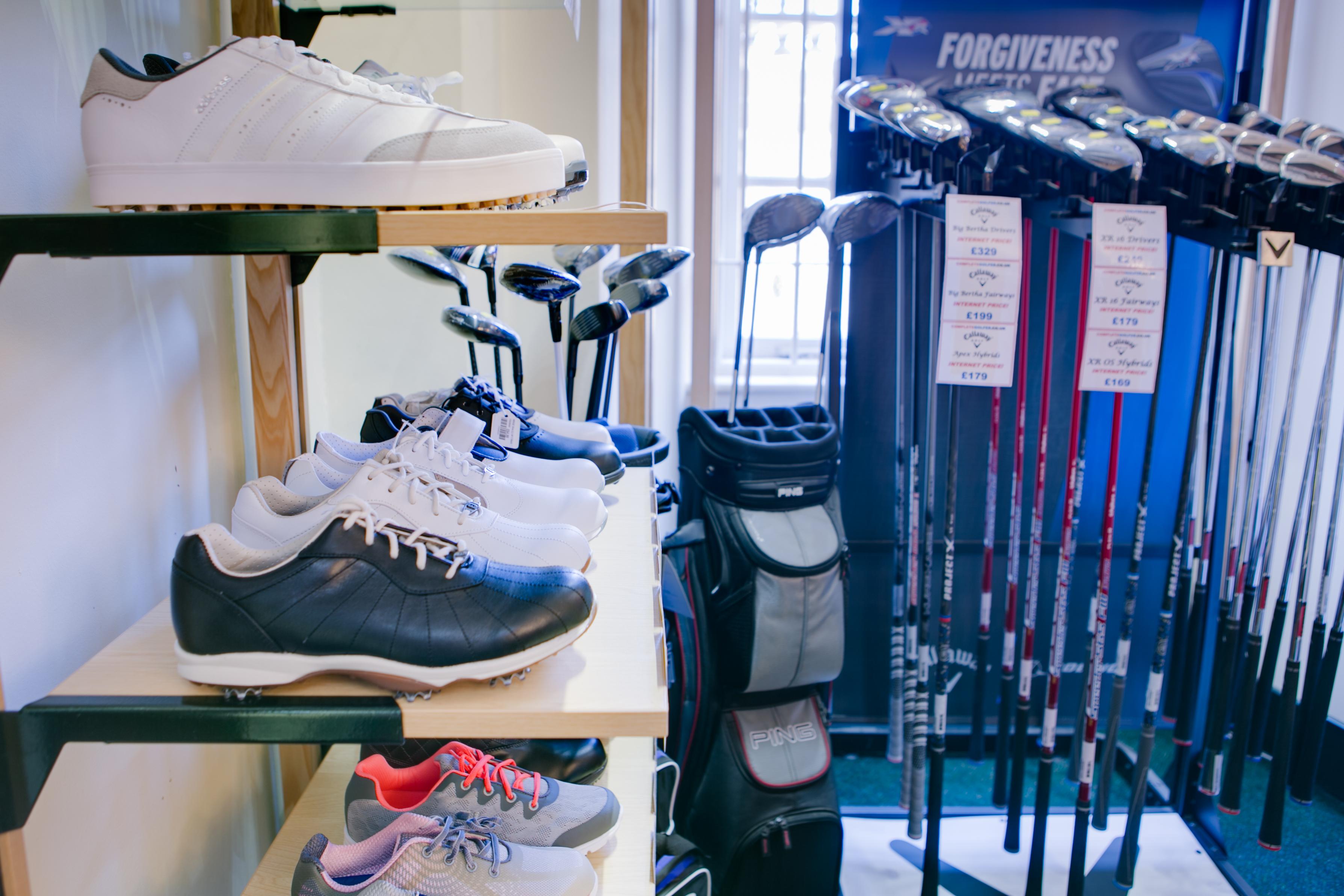 Golf Shoes on shelf