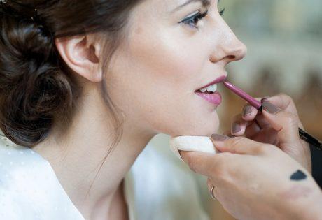 lipstick being applied