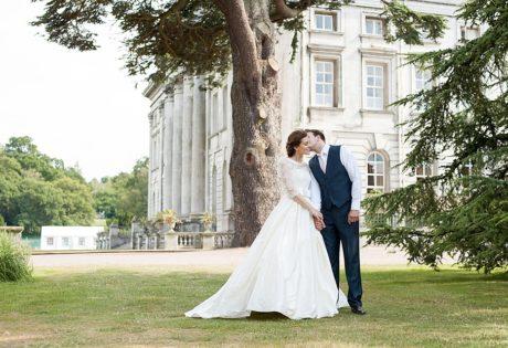 fountain at moor park mansion elegant summer natural wedding