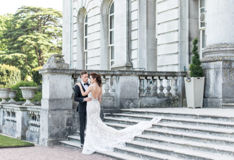 Wedding COuple on steps